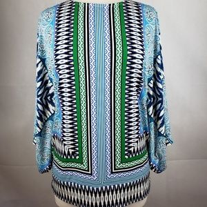 Chico's Tops - 🔵5/$50🔵 Chico's Blue Green White Blouse Size 2